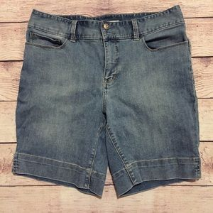 Boston Proper Denim Bermuda Shorts, Size 14